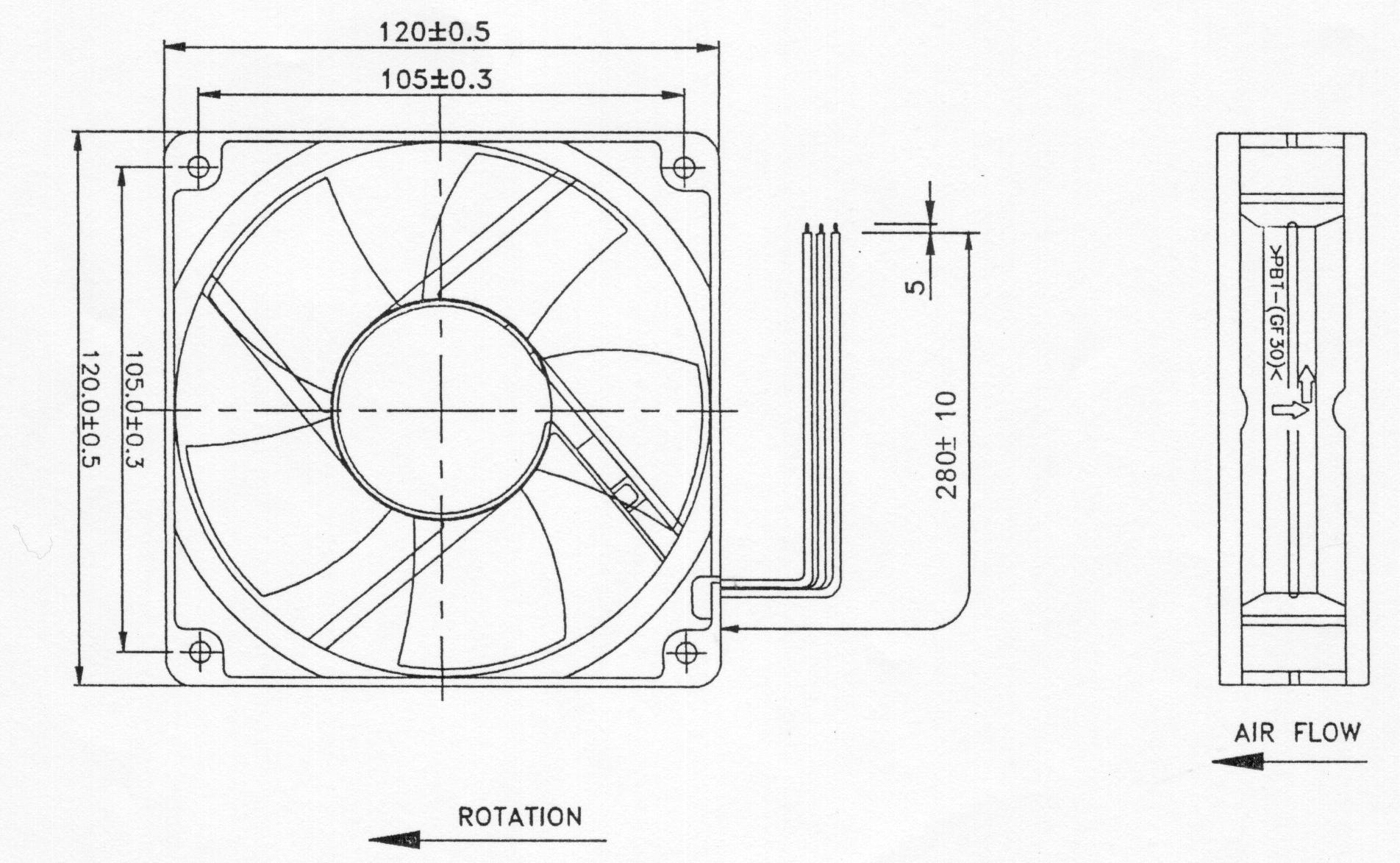 Measurements For 120mm Fan Screwholes Solved Air