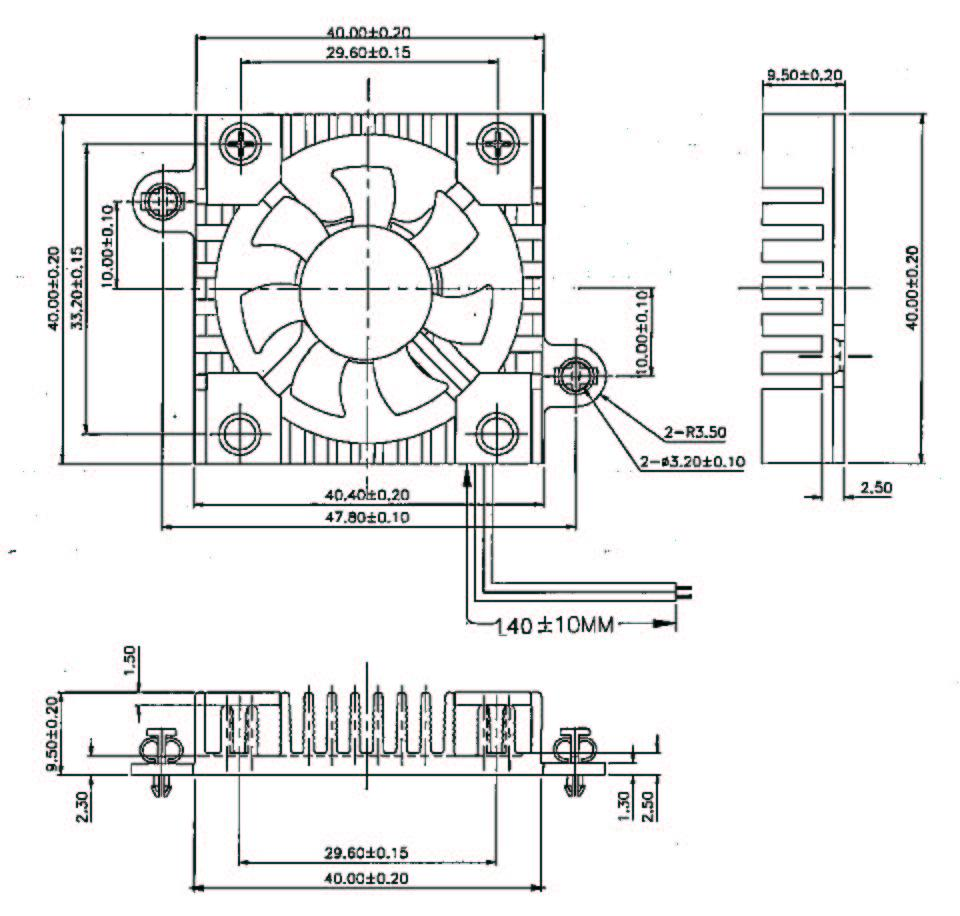 ... 40mm X 10mm Chip Cooler